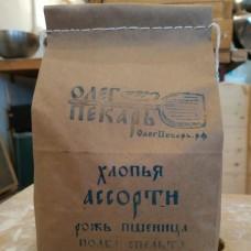 Хлопья ассорти  (пшеница, рожь, спельта и полба), 1 кг.