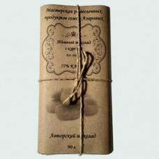 Темный шоколад ручной работы на меду с курагой