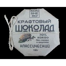 Темный шоколад ручной работы на меду классический, 100гр Олег Пекар